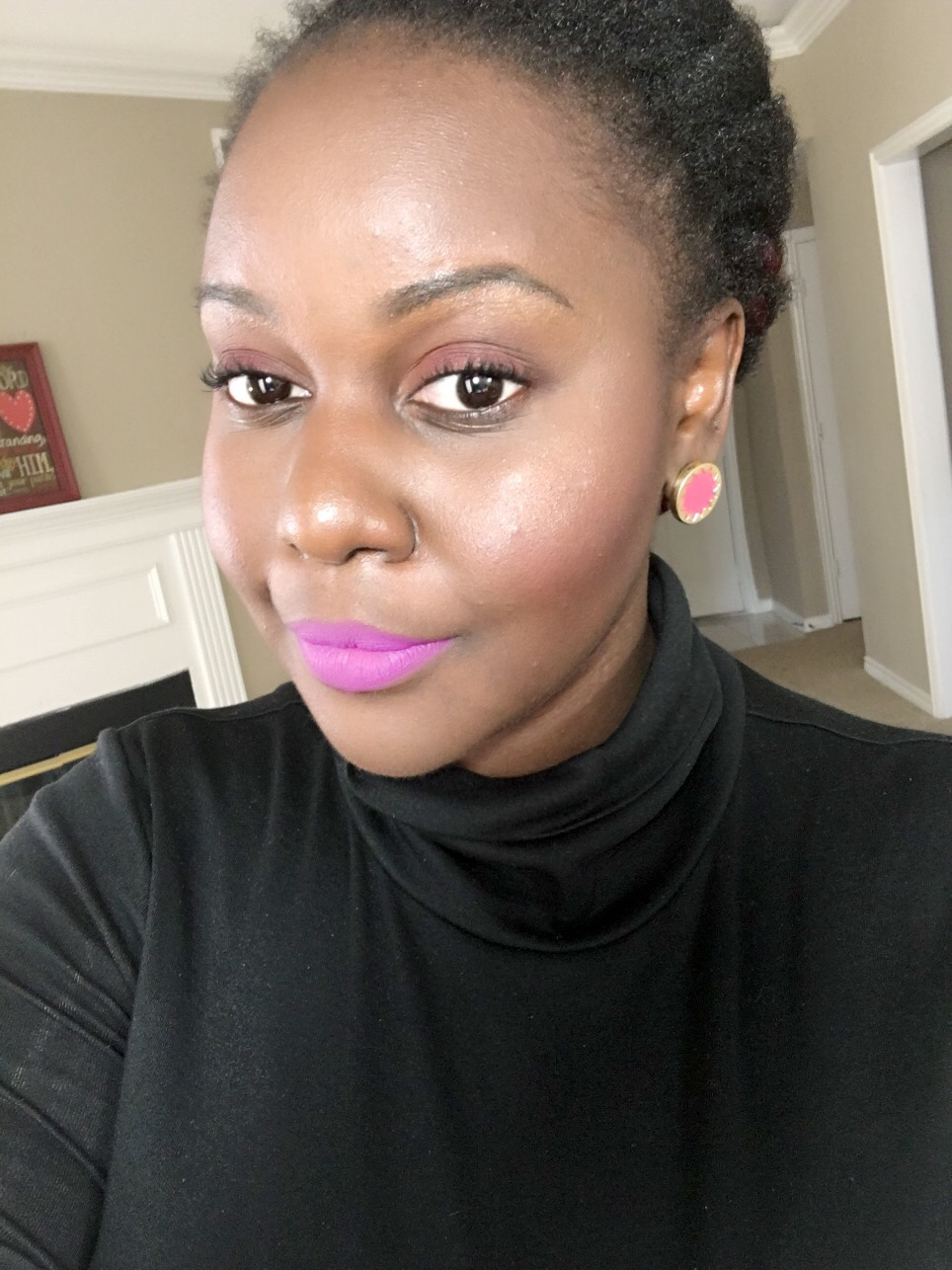 L.U.V Kat Von D Everlasting Liquid Lipsticks Review on Dark Skin Black Women of color