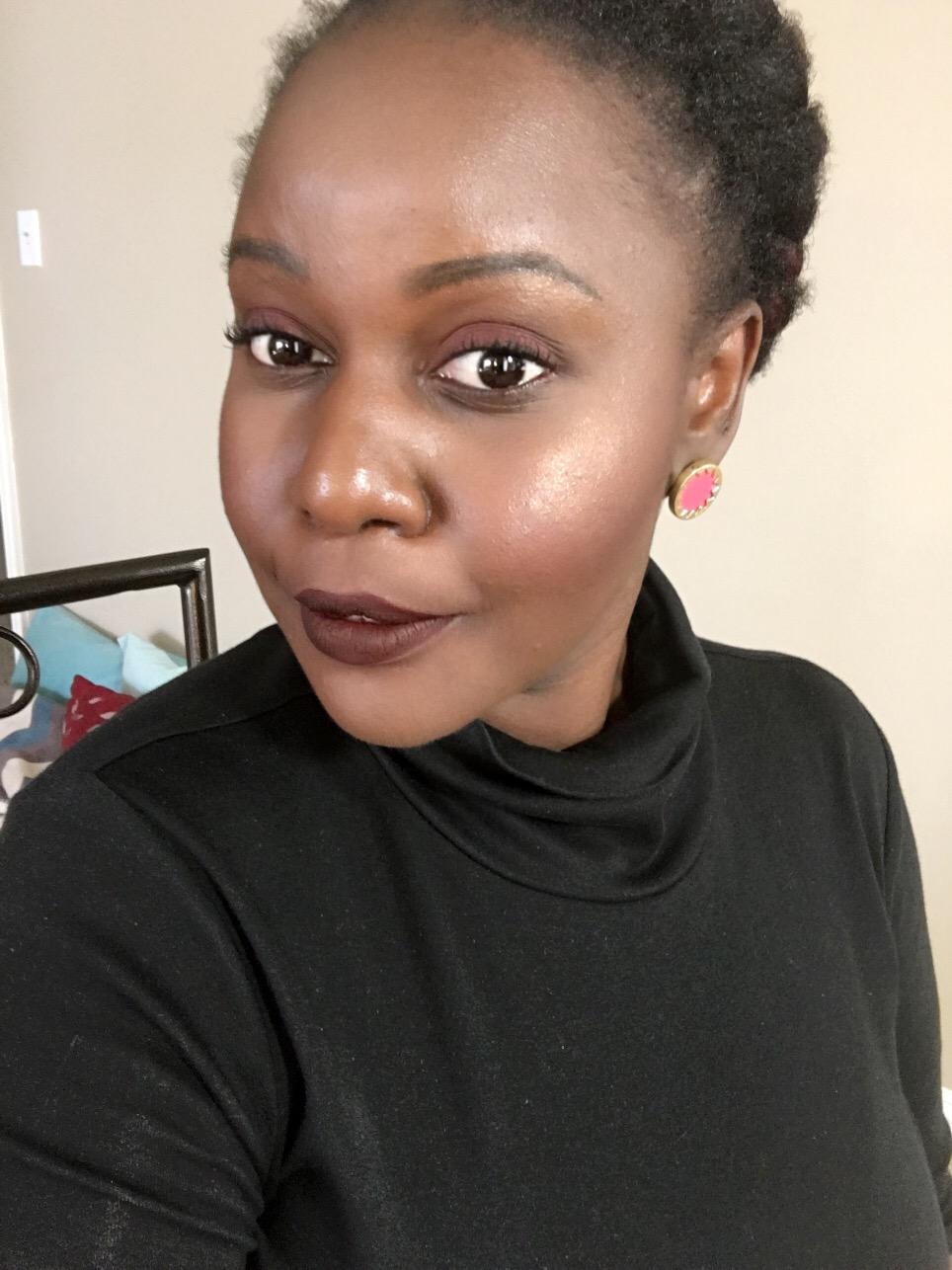 damned dark lip Kat Von D Everlasting Liquid Lipsticks Review on Dark Skin Black Women of color