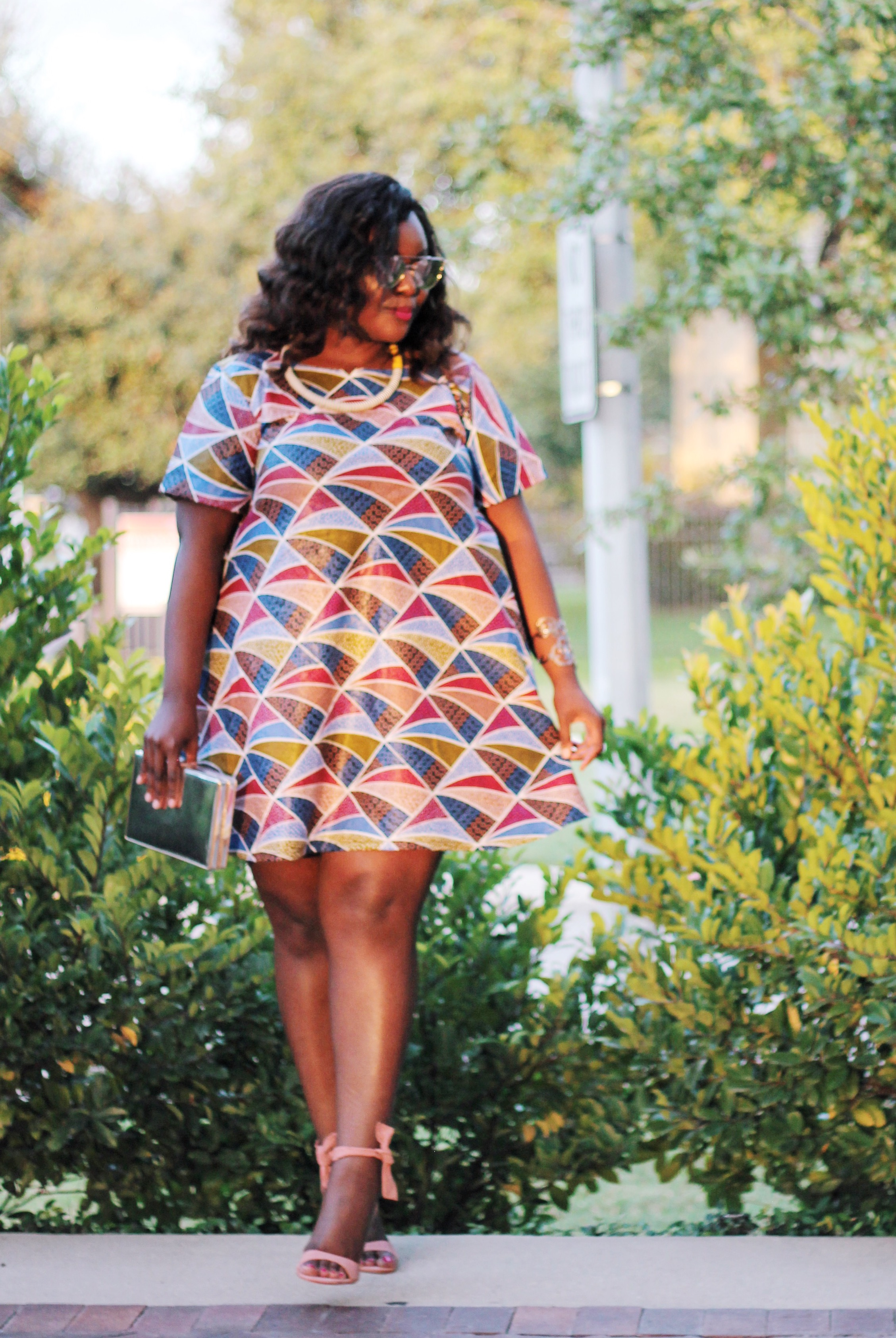asos curve bloggers, beautiful curvy girls, curvy style dark skin fashion blogger curvy style blogger, dark skin beauty blogger, dark skin blogger, houston blogger, texas blogger, travel blogger, ugandan blogger, ugandan fashionista, ugandan style blogger, african print ankara skirt styles, where to get african print clothes in America and uk, exposure african crafts in kampala uganda, kyaligonza kampala african material, Steve Madden Bowwtye Heel Sandal
