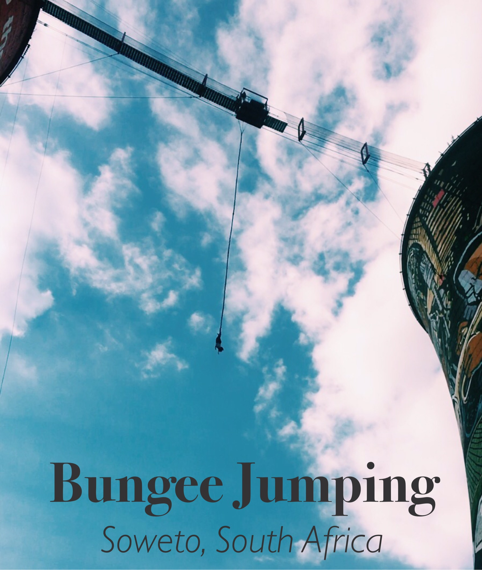 bungee jumping at the orlando towers in soweto south africa review, travel blogger, things to to in Johannesburg south africa soweto, travel blogger, south africa Johannesburg city guide, african lifestyle blogger