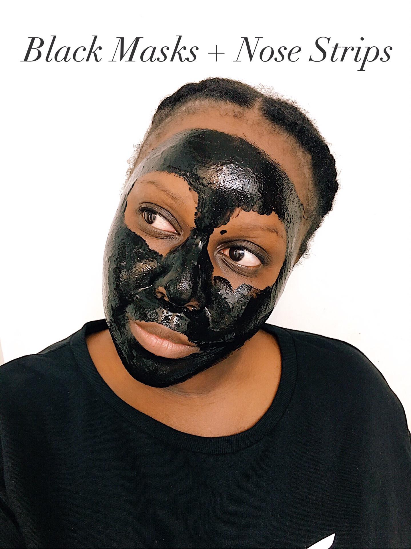 boscia Luminizing Black Mask, BIORÉ Deep Cleansing Charcoal Pore Strips