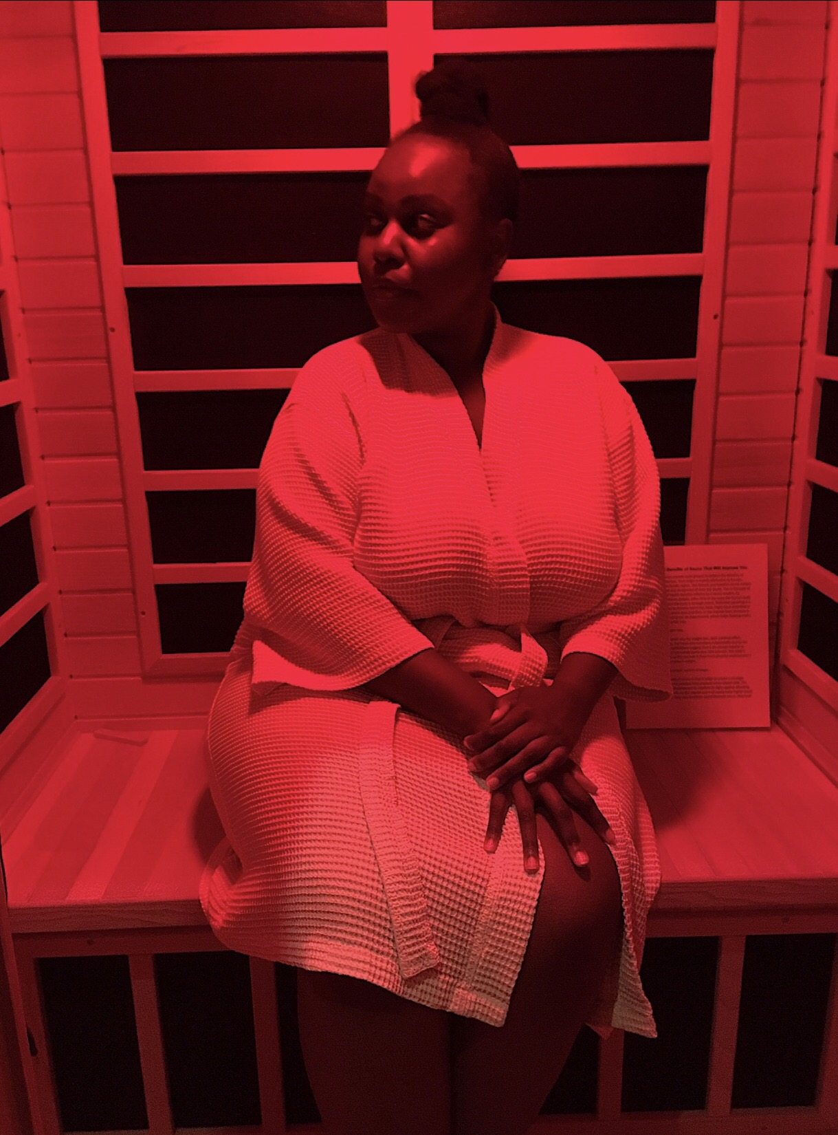 I like to use my time-off to explore this amazing city, and that's how I found out about infrared saunas
