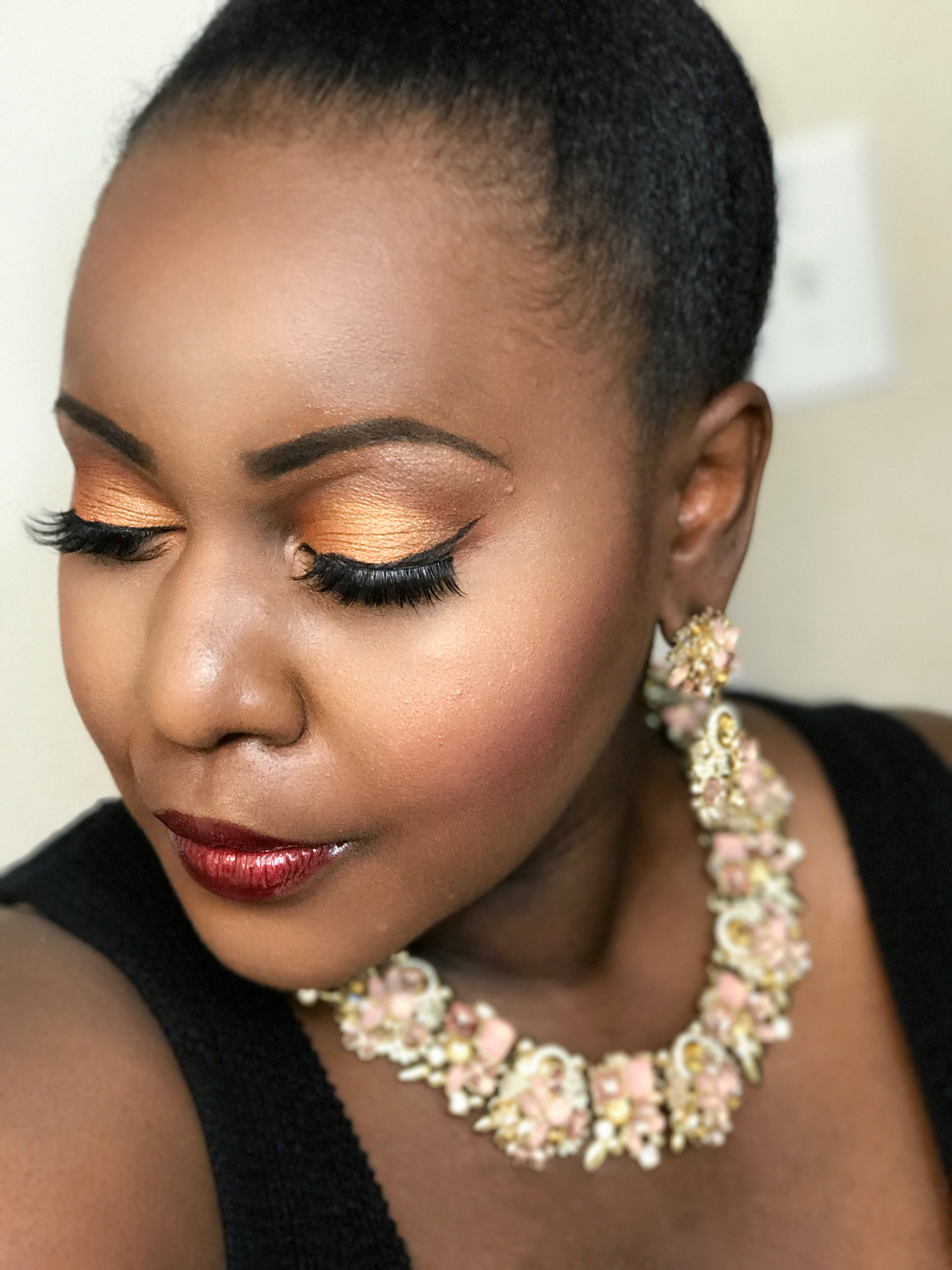 plus size fashion blogs 2017, beautiful curvy girls, how to fill the eye brow of a dark skin, beautiful plus size dark skin girls, Arbonne beauty makeup review dark skin beauty blogger