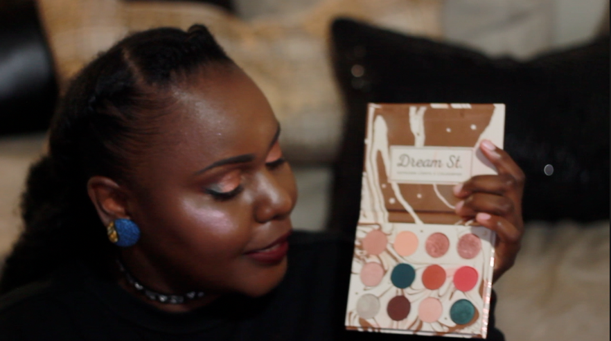 Eye Shadow - Dream St. Pressed Powder Shadow Palette Blush and Highlight - Thorn To Be Wild Super Shock Face Duo Highlight - Petal Metal Highlighter Smashbox + Vlada Lipstick - ILuvSarahii Bundle Lip Bundle Setting Spray – Urban Decay All Nighter make up darkskin uganda beauty style bloggers