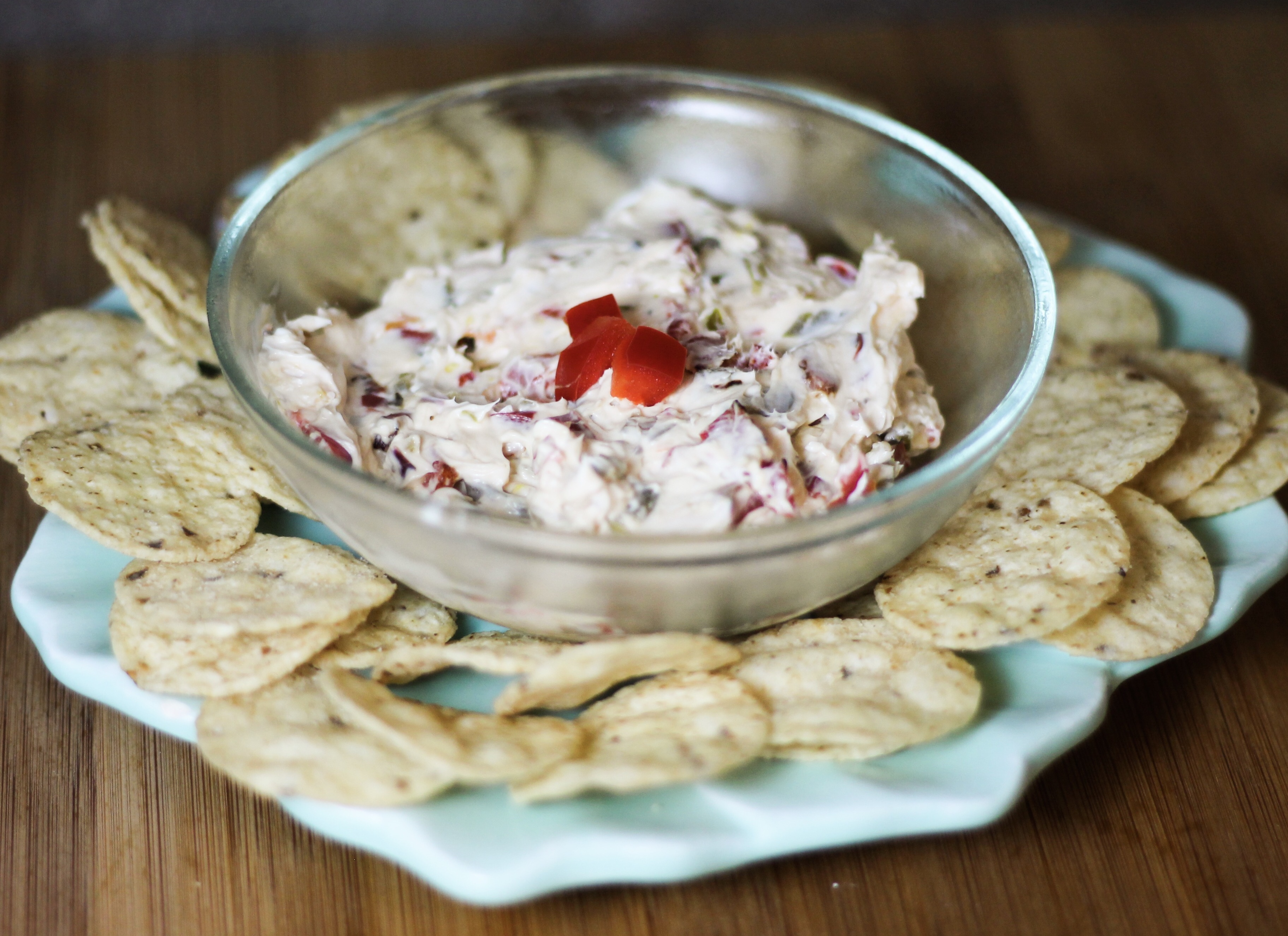 chips and dip, red bell peppers, Byers' Best Candied Jalapeños, cream cheese, friendsgiving thanksgiving ugandan food blog, easy indian, butter chicken chicken tikka masala, travel curvy plus size dark skin, quick food millennial recipes
