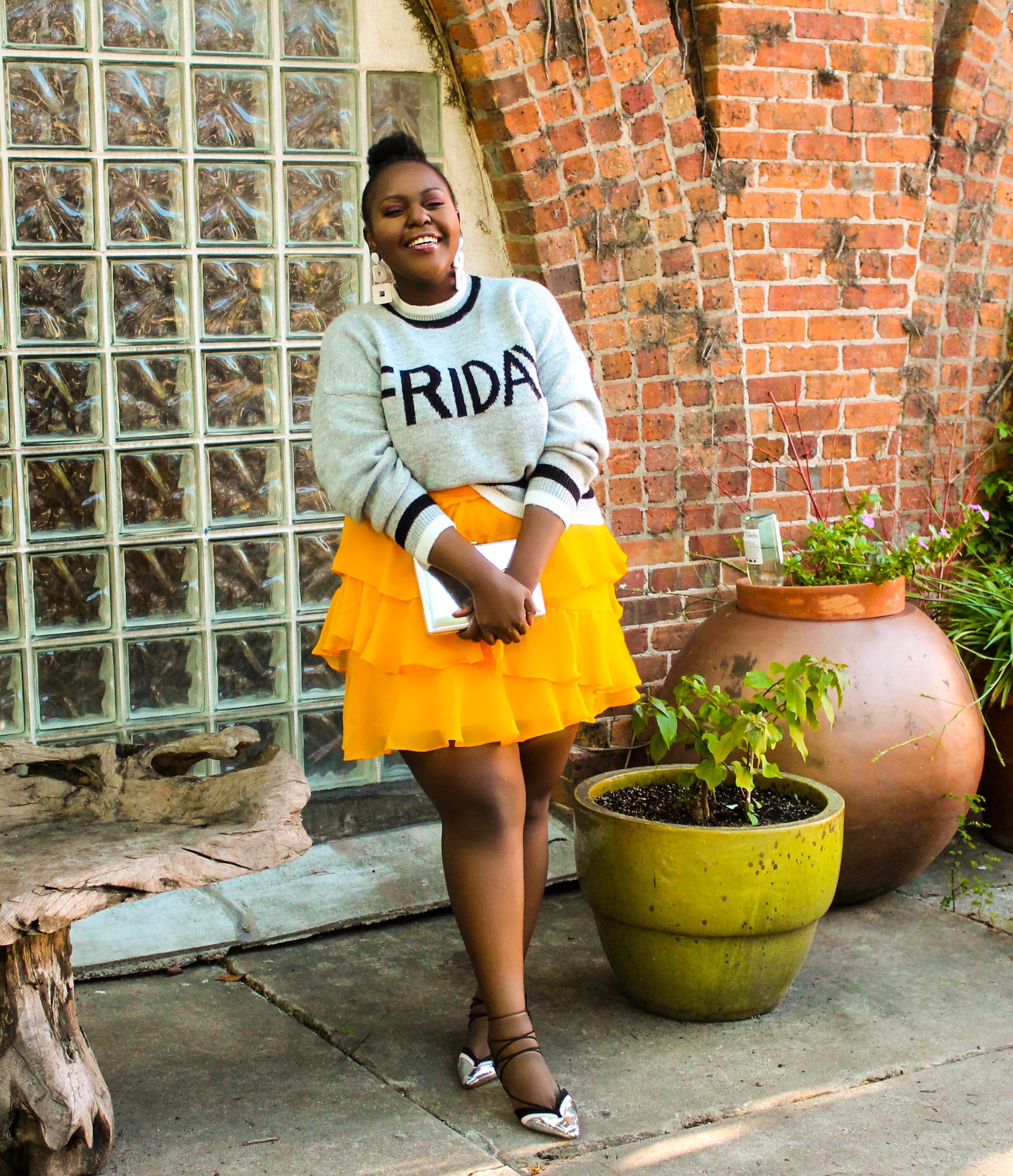 preppy plus size fashion blogs 2017, beautiful curvy girls, how to fill the eye brow of a dark skin, beautiful plus size dark skin girls, plus size black bloggers, clothes for curvy girls, curvy girl fashion clothing, plus blog, plus size fashion tips, plus size women blog, curvy women fashion, plus blog, curvy girl fashion blog, style plus curves, plus size fashion instagram, curvy girl blog, bbw blog, plus size street fashion, plus size beauty blog, plus size fashion ideas, curvy girl summer outfits, plus size fashion magazine, plus fashion bloggers, zara, Rosie the riveter shirt; Emilia embroidered beaded clutch; Vince Camuto heels; Lula shell drop earrings; Aldo Galigossi sunnies, tenge collection, codexmode, zara, asos