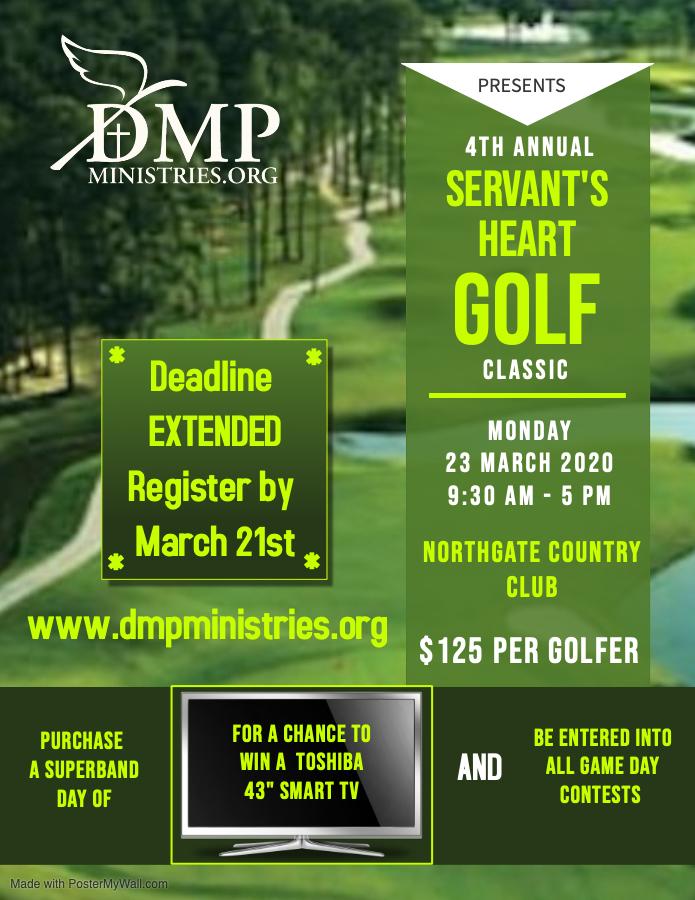 DMP Golf Tournament - Deadline Extended