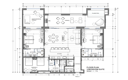 Vista Encantada 3 Bedroom Floor Plan