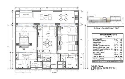 Vista Encantada 2 Bedroom Floor Plan