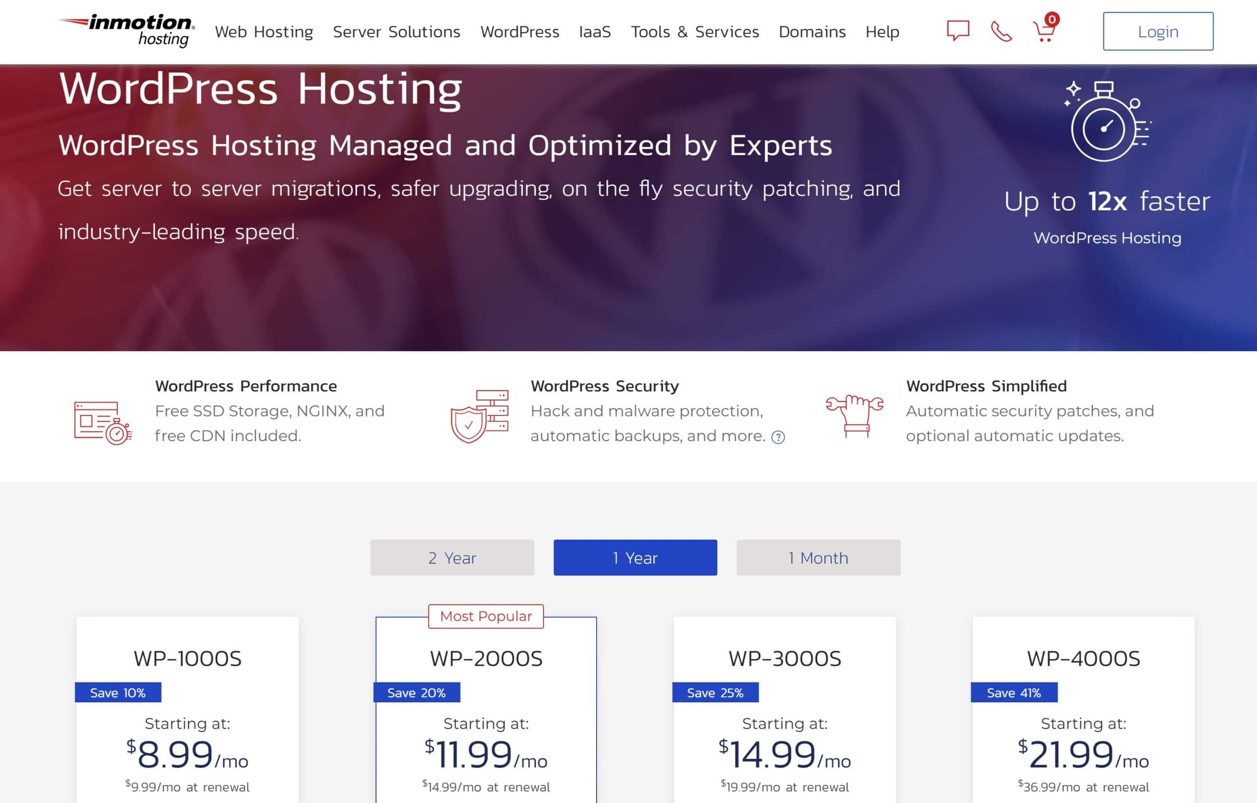 Imotion Hosting WordPress Hosting service Prices 2021