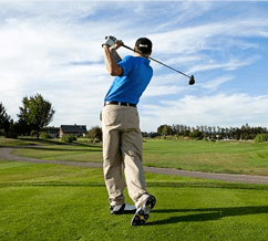 Golf follow through swing