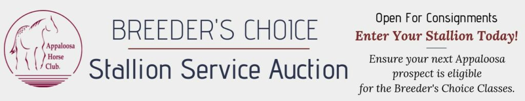 2019 ApHC Stallion Auction