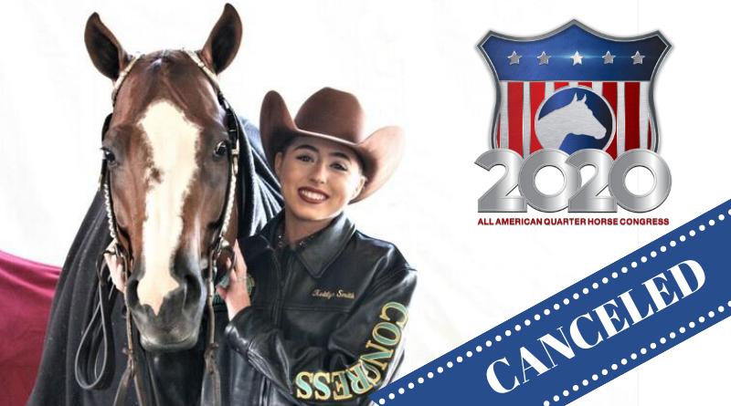 2020 All American Quarter Horse Congress Canceled