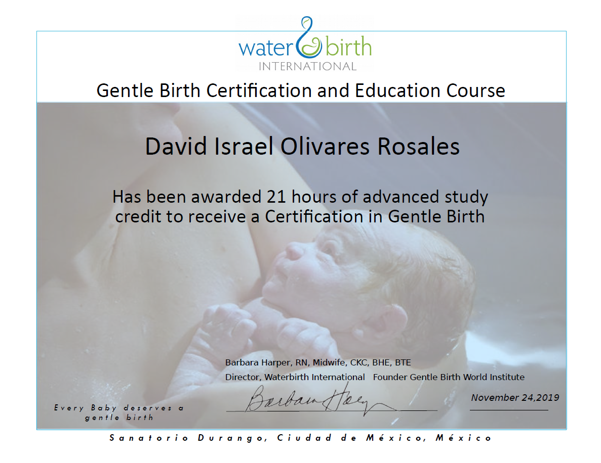 CERT Gentle Birth CDMX 2019 signed- David Olivares