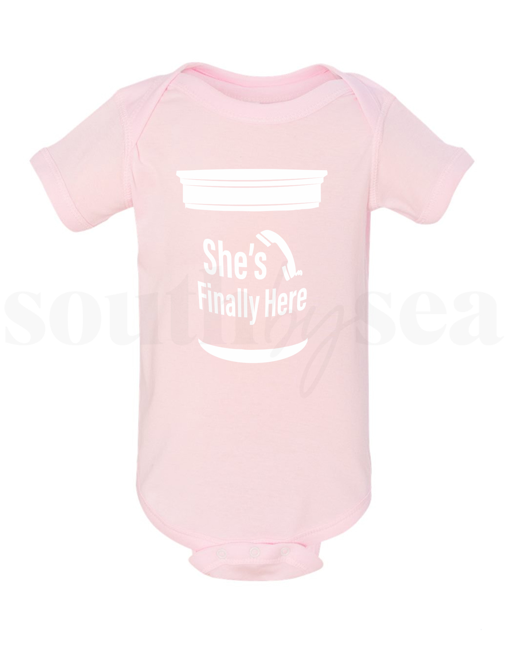 She's  / He's Finally Here Onesie