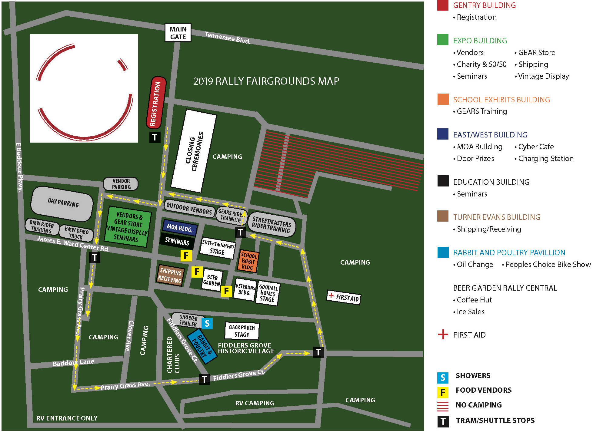 Rally Site Map