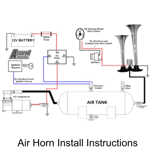 Assured Automotive Company Air Horn Install Instructions