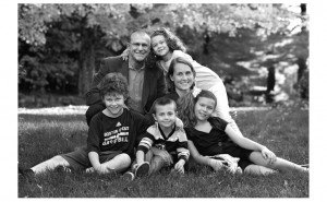 Burman Family Portrait Dover MA retouched replacing heads from four files