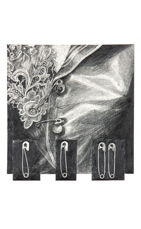 Pencil Drawing on Paper Karen Dalmonisth