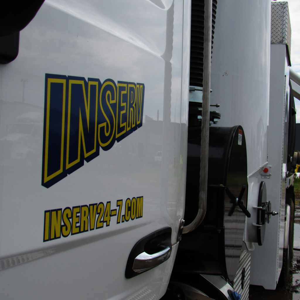 Side of INSERV, Inc. truck
