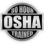OSHA 30 hour trained badge