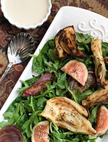 Roasted Fennel Salad with Lemon Tahini Dressing