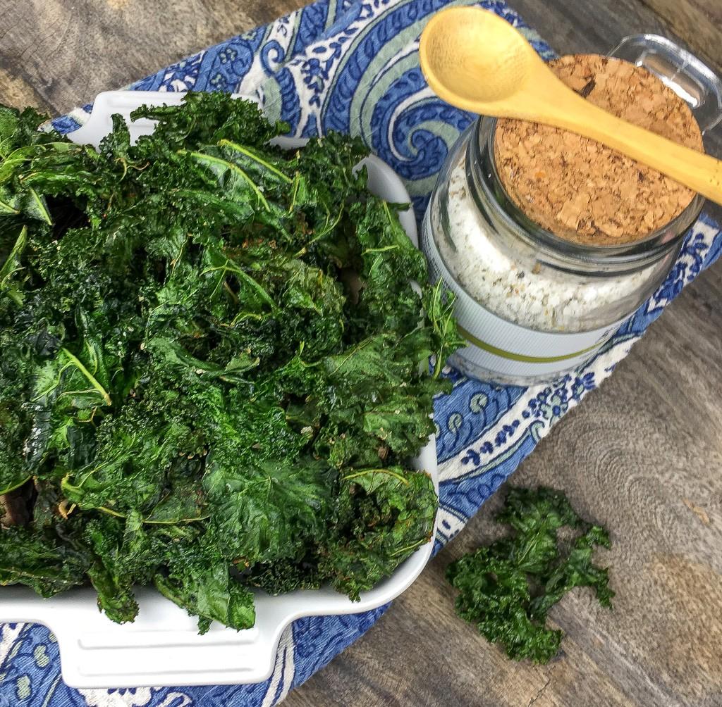 Crispy Seasoned Kale Chips