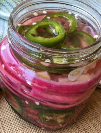 Pickled Jalapeno Peppers & Red Onion