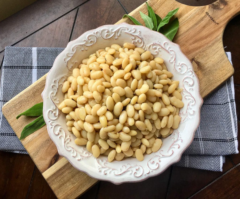 Tuscan White Beans with Fresh Sage