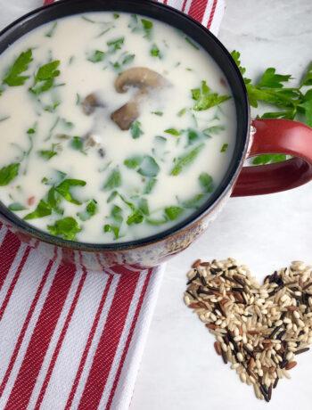 Creamy Wild Rice Mushroom Soup
