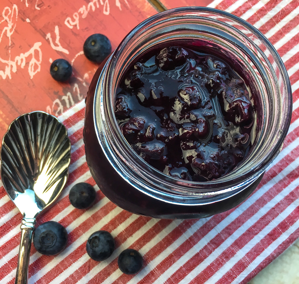 Vegan Instant Pot Blueberry Compote