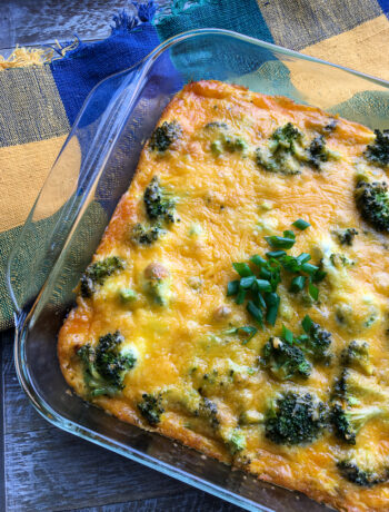 Veggie Sausage, Broccoli, and Potato Breakfast Casserole