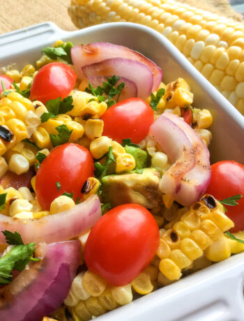 Grilled Corn & Cherry Tomato Salad