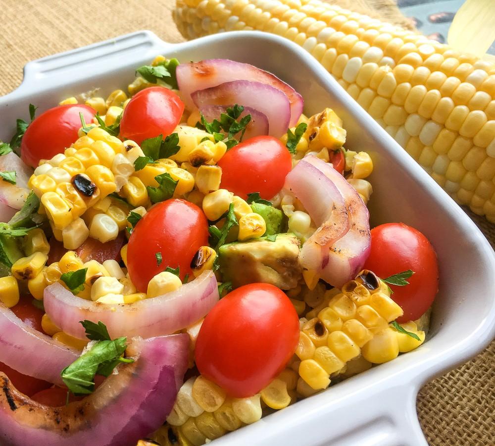 Grilled Corn & Cherry Tomato Salad