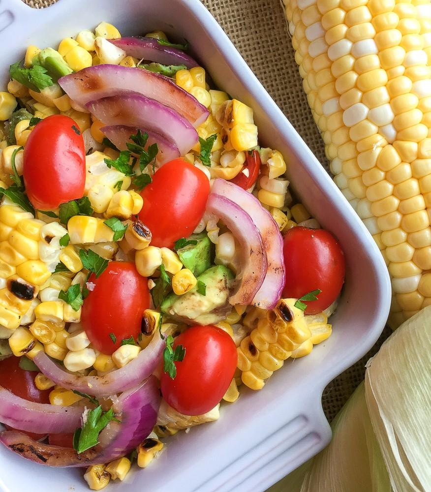 Vegan Corn and Cherry Tomato Salad