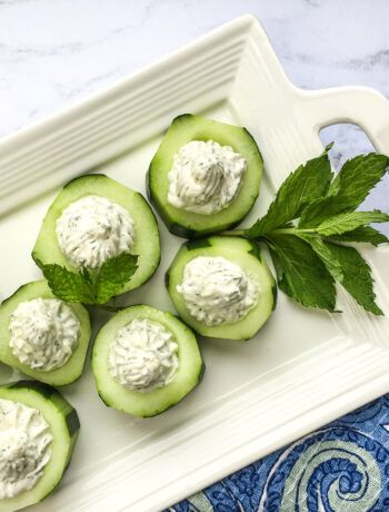 Cucumber Bites with Whipped Feta