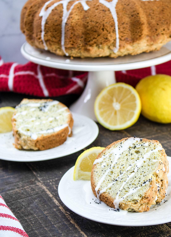 Glazed Lemon Poppy Seed Coffee Cake