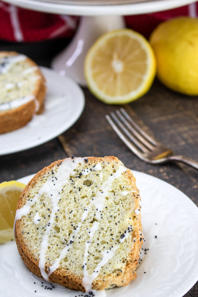 Glazed Lemon Poppy Seed Coffee Cake