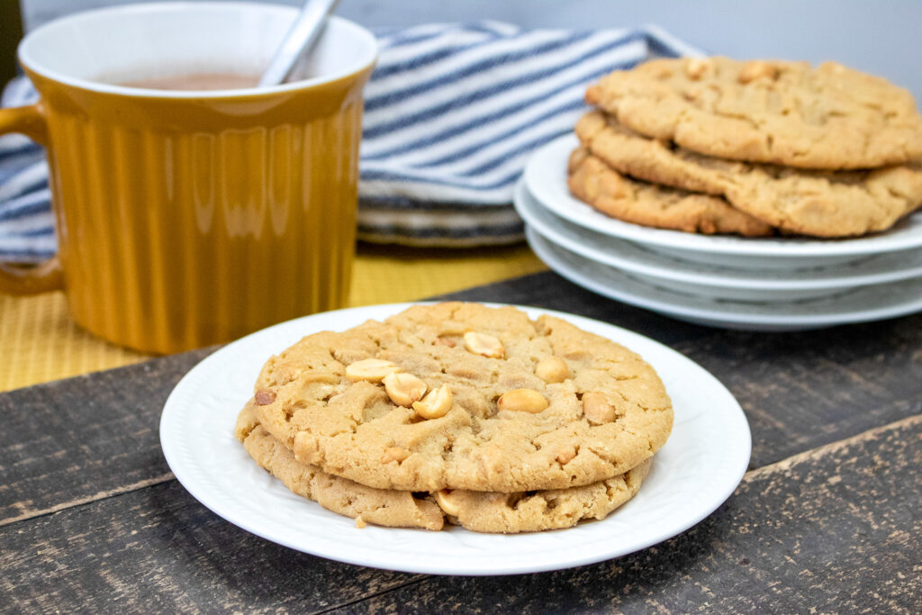 Vegetarian Chunky Peanut Butter Cookies