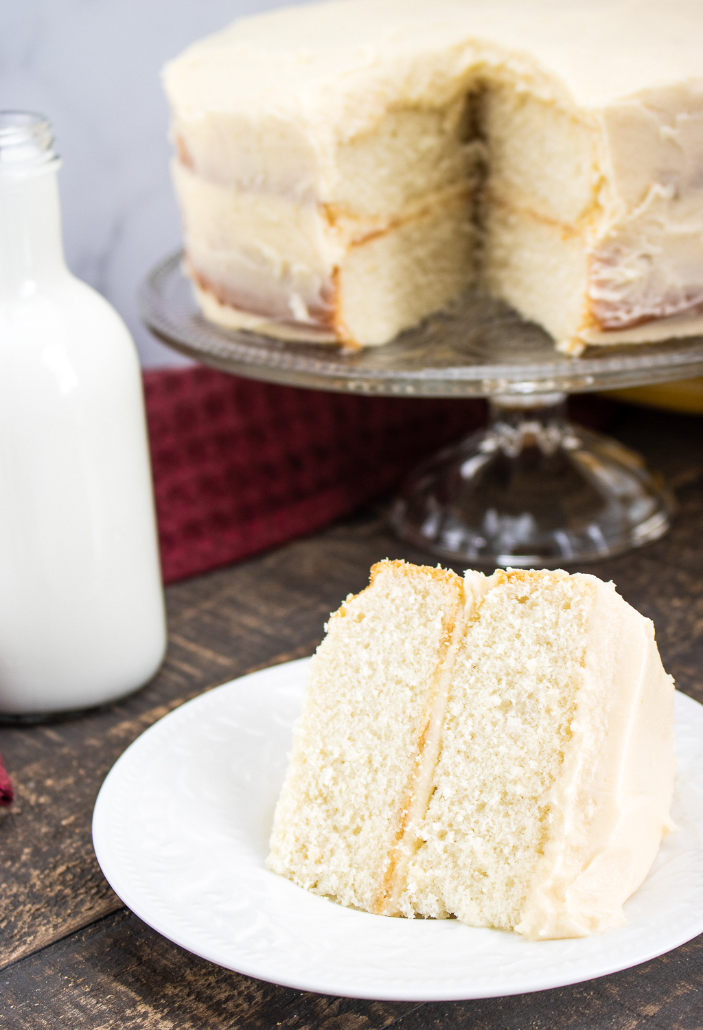 White Layer Cake From Scratch