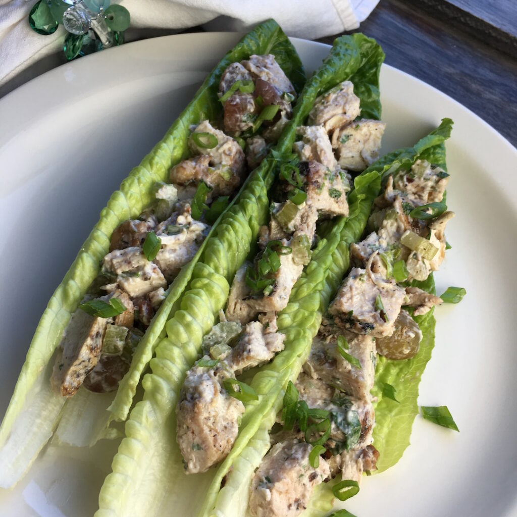 "Vegetarian ""Chicken"" Salad Lettuce Wraps"