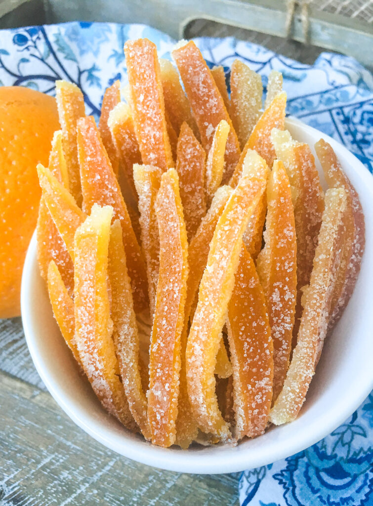 Vegan Candied Orange Peels