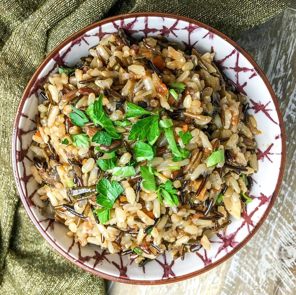 Instant Pot Vegan Rice Pilaf
