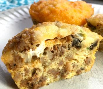 """Vegetarian """"Sausage"""" Breakfast Muffins"""