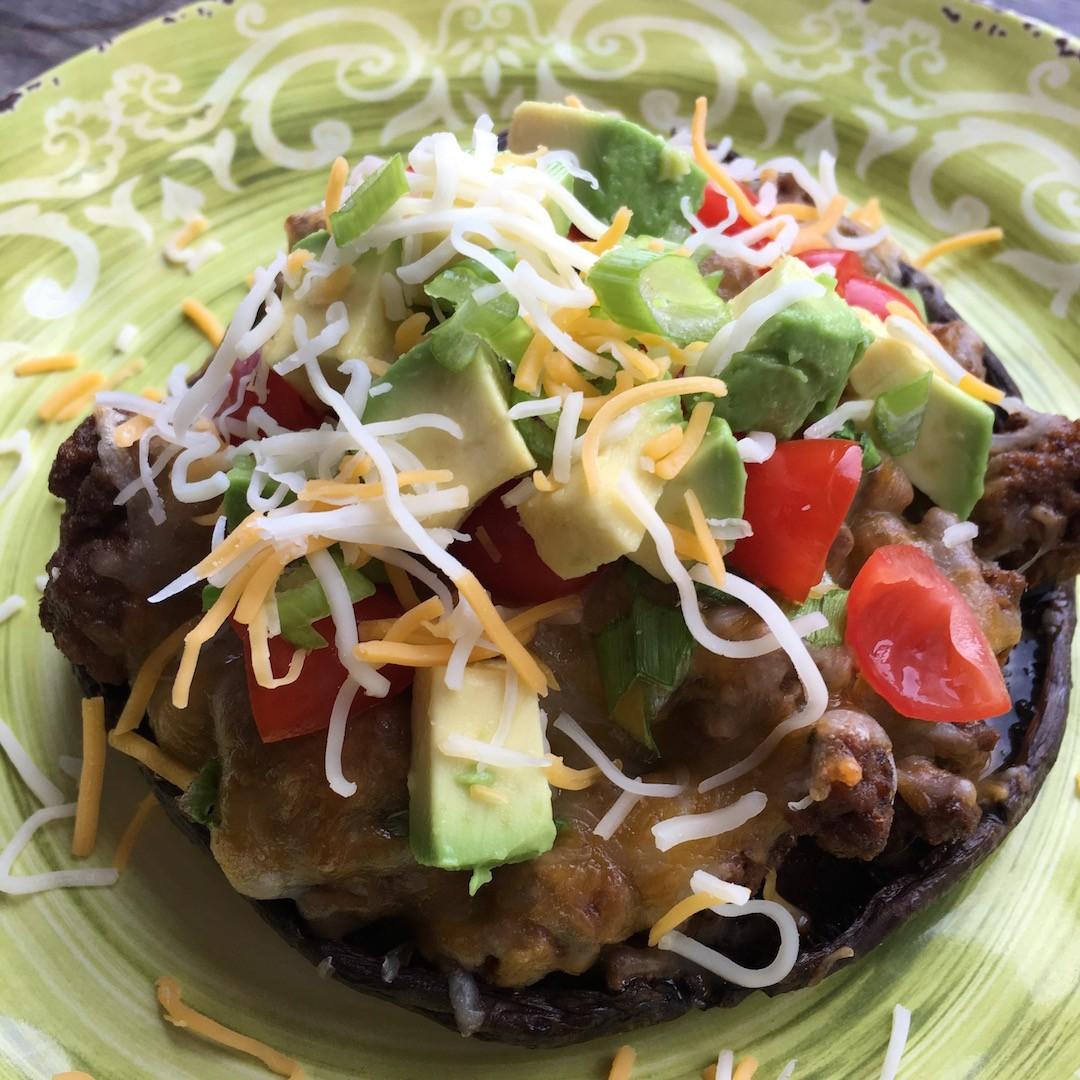 Vegan Taco Stuffed Portobellos
