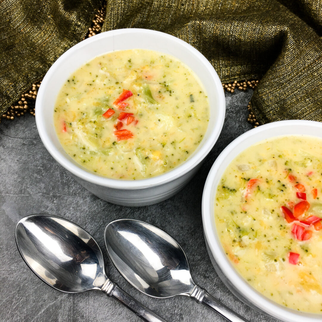 Vegetarian Instant Pot Broccoli Cheese Soup