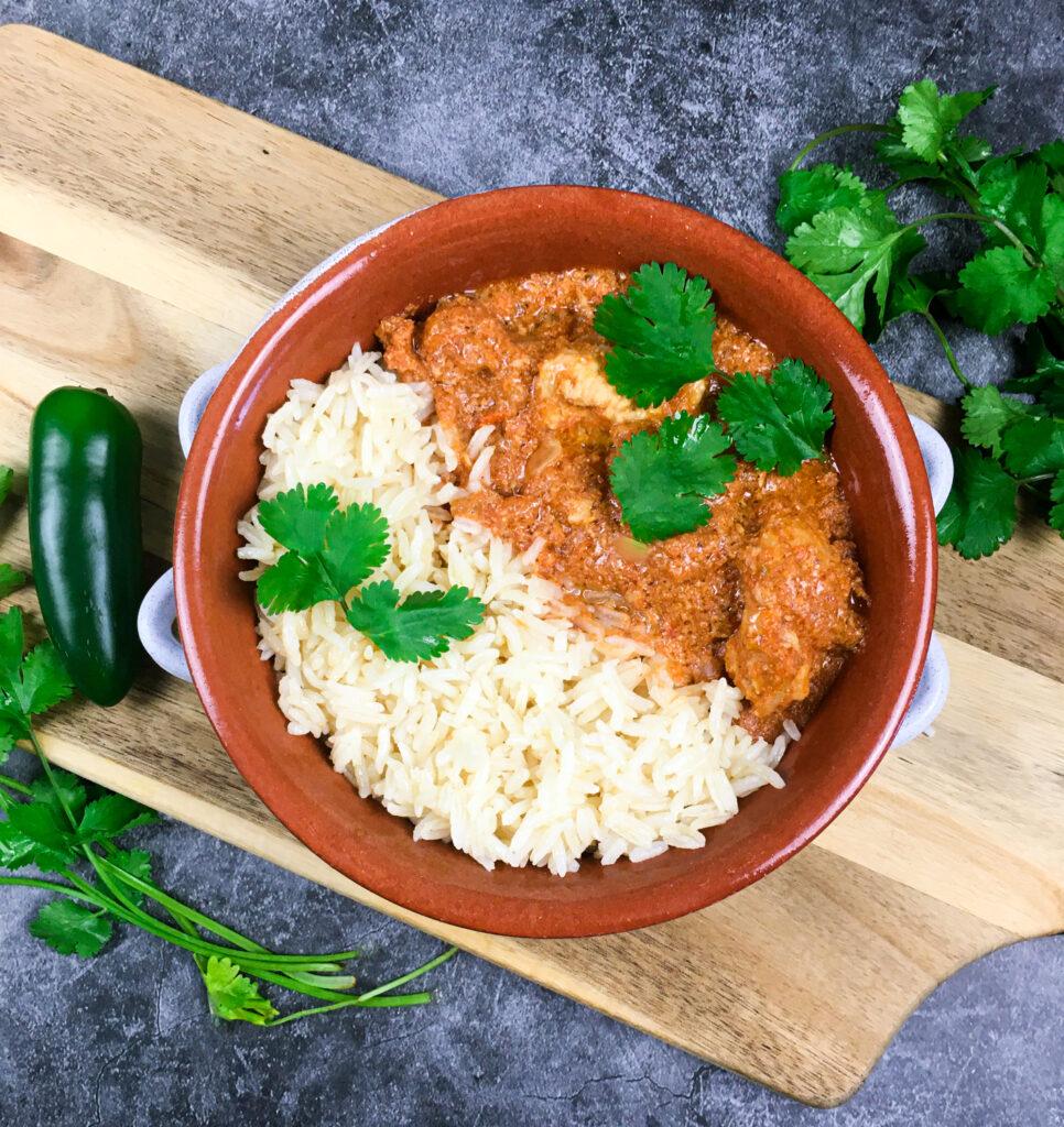 """Vegetarian Instant Pot """"Chicken"""" Tiki Masala"""