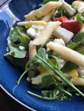 Vegetarian Greek Pasta Salad