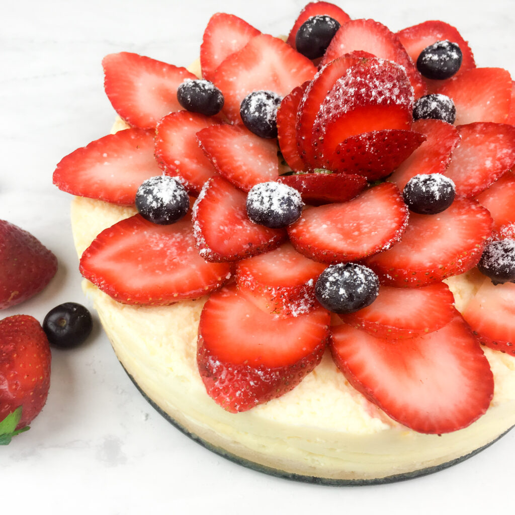 Instant Pot Cheesecake with Berries
