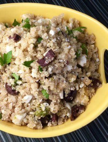 Vegetarian Greek Quinoa Salad